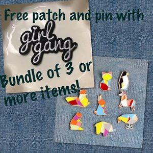 Free patch and pin with bundle of 3+ items!!!